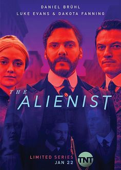 With Daniel Brühl, Dakota Fanning, Luke Evans, Brian Geraghty. Newspaper illustrator John Moore meets with criminal psychologist (alienist) Dr. Laszlo Kreizler to investigate a serial killer in New York during the late century. Series Movies, Hd Movies, Movies Online, Movies And Tv Shows, Movies To Watch, Movie Tv, Movies Free, Movie List, Dakota Fanning