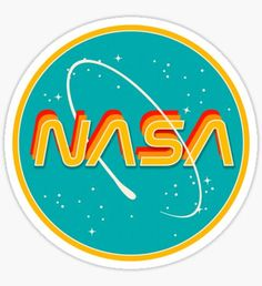 """""""Nasa retro"""" stickers by emily zigo Stickers Cool, Red Bubble Stickers, Tumblr Stickers, Phone Stickers, Printable Stickers, Preppy Stickers, Macbook Stickers, Photographie Street Art, Nasa Images"""