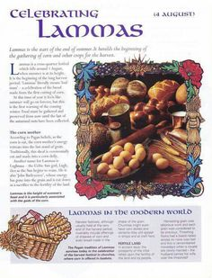 Celebrating Lammas ( Lughnasadh )