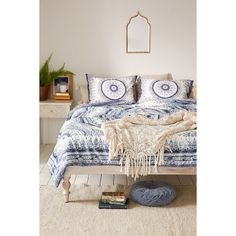 plum u0026 bow effie medallion comforter 180 cad liked on polyvore featuring home twin xl