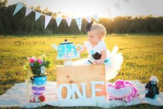 Alice in Onederland Photoshoot 1st Birthday Themes, First Birthday Pictures, Baby Girl 1st Birthday, First Birthday Parties, First Birthdays, Birthday Ideas, Alice In Wonderland Tea Party, Amelia, Ava