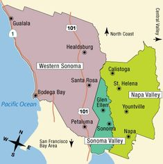 California Wine Tasting Map Explore Wine Country And