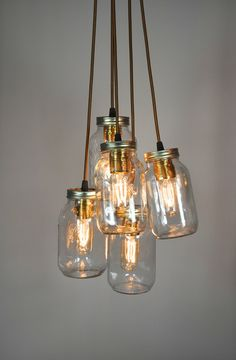 Clever people at Jam jar lights have made these.  Almost as good as putting Yerburgh's Jam Jar Gin in!  www.jamjargin.com