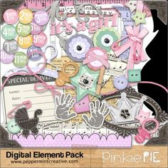 Pinkie Pie elements $3.75 #peppermintcreativewishlist (And i just had a baby girl! This would be perfect!)