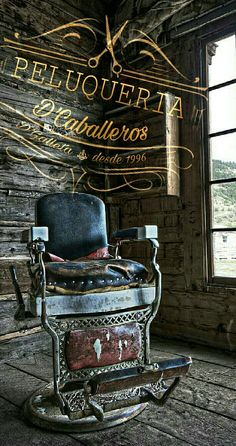 Peluqueria Barber Poster, Barber Logo, Barber Shop Chairs, Barber Shop Decor, Dan Barber, Best Barber, Barber Clippers, Barbershop Design, Fabric Dining Chairs