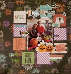 Layout design by Jennifer Gatewood for Scrappin' in the City. Disney Scrapbook, Scrapbooking, Simple Stories, Halloween Ideas, Layout Design, Layouts, Card Ideas, Gift Wrapping, Cheese