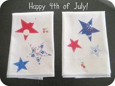 the split stitch: Get Your Craft On! FREE 4th of July Towel Tutorial with Applique Template.