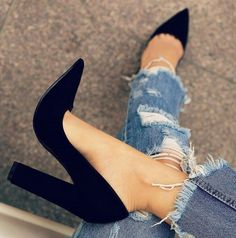 Pinterest: QUEEN.SLAYY  Sophia - Black Heels By Lolashoetique