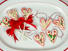 Get this all-star, easy-to-follow Candy Cane Heart Pops recipe from Food Network Kitchen