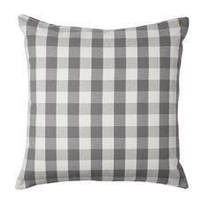Buffalo Plaid Pillow Cover IKEA Smanate NEW Gray Cushion 20x20 Danish Farmhouse #IKEA #FrenchCountry #farmhouse #farmhousestyle