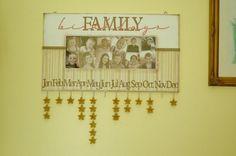 Family Birthday Calendar #Craft #DIY