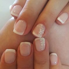 Best French Manicures - 71 French Manicure Nail Designs - Best Nail Art by stephanii #Manicures #ManicureDIY