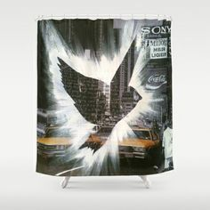 ThePeaceBombs - CityLanding 2 Shower Curtain by ThePeaceBombers - $68.00Part of the world know PeaceBomb Team - Join it now! Acrylics and ink on recycle quality paper Handwritten text - Japanese book paper Created by the Founder of The PeaceBomb Team. Join it now!  #decor #home #shower #bathroom #curtains #homes #peace #art #thepeacebomb #newyork