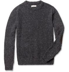Oliver Spencer Elbow-Patch Lambswool-Blend Sweater | MR PORTER  - Svpply