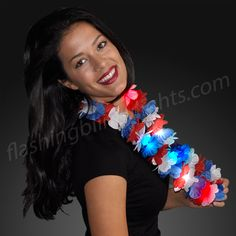 Are you ready for BBQ and fireworks? Throw on your LED Light Up Hawaiian Lei Necklace and say Aloha to 4th of July with all your friends and family!