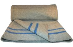 New Czech Military Wool Blanket with Stripes:Amazon:Sports & Outdoors