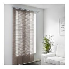 IKEA - INGAMAJ, Panel curtain, A panel curtain is ideal to use in a layered window solution, to divide rooms or to cover open storage solutions.Can be easily cut to the desired length.