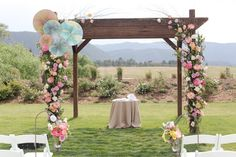 Decorating with Pinwheels - Pinwheel Chuppah - mazelmoments.com