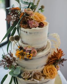 @peppermintkitchen posted to Instagram: The lovely Lisa has sent through some images of her 3 tiered, autumnal beauty by @thegoodweddingcompany- and what good timing. I don't know about you- but did I really needed a dose of colour to help with this week.   Take care, and stay healthy everyone xxx #weddingcake #nakedweddingcake #destinationwedding #wanakawedding #queenstownwedding #bohowedding #bohobride #indiewedding #indiebride #loveintentionally #cakeartist #weddingstyle #weddingflowers… Boho Bride, Boho Wedding, Destination Wedding, Wedding Flowers, Dose Of Colors, Some Image, Autumnal, How To Stay Healthy, Bespoke