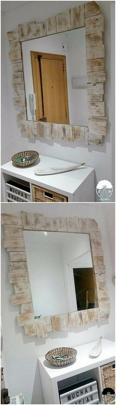 This wood pallet superb creation of mirror designing framework is somehow an incredible looking style. Placing such wall mirror designs in your house corners will definitely be best in terms of bringing a different and gorgeous effects. It has been adjusted with the wood pallet planks.