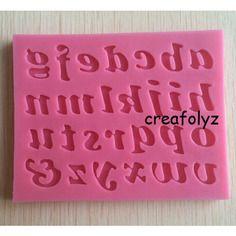 Moule en silicone alphabet pour deco fimo ou porcelaine froide plâtre résine ...