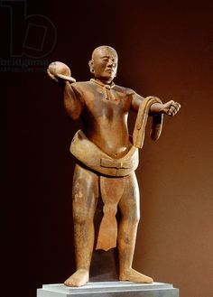 Standing male figure in an athletic posture Guatemala Maya
