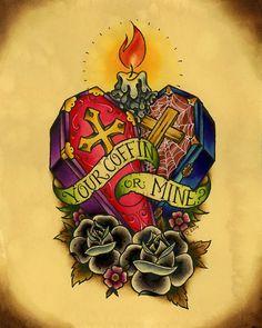 8x10 'Your Coffin or Mine' Alkaline Trio Fanart Fine by Rebekart