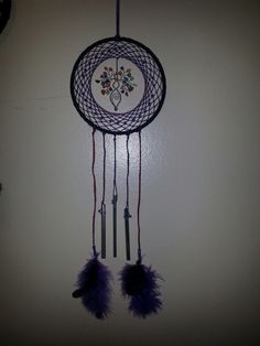 Dream catcher with multi coloured stone goddess