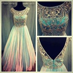 Pink and blue gown, Reminds me of Aurora's dress when the two fairies make it blue and pink:D!!