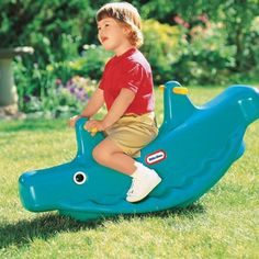 Classic Whale Teeter Totter in Green