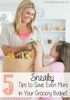 Have you ever tried to trick yourself into saving money? I do it all the time in ways to save money! Here's a few tips on how you can save money on your grocery budget! 5 Sneaky Ways to Save Even More in Your Grocery Budget