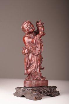 Antiques Chinese China Natural Old Jade Tongzi Kid Child Basket Amulet Talisman Pendant Statue