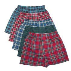 Hanes Boys Tartan Boxer Underwear (Pack of 5)