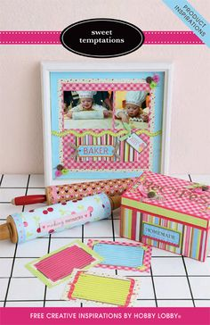 Celebrate your kitchen by crafting with this yummy collection of coordinating papers and embellishments!