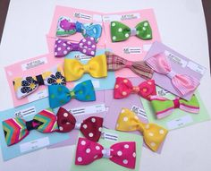 Colorful Tuxedo Bows   choose two plus a mystery bow  by LilNicks, $4.49
