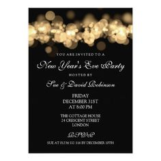 new years eve party gold bokeh lights card 80th birthday invitations birthday bash dad
