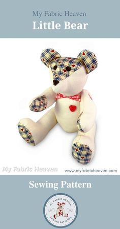 Teddy Bear Sewing Pattern, Diy Scrapbook, Scrapbooking, Sewing Lessons, Handmade Items, Handmade Products, Online Gifts, Inspirational Gifts, Felt Flowers