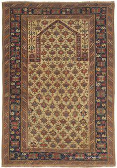 Caucasian Shirvan Prayer Rug from the 19th Century