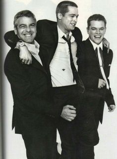 Georges Clooney, Brad Pitt, Matt Damon