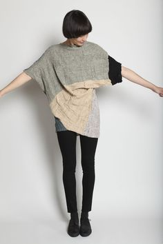 BOESSERT SCHORN http://totokaelo.com/store/products/boessert-schorn/fw11/crooked-pullover/nature-melange-multi
