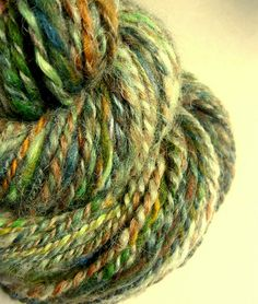 Handspun hand dyed bulky blue faced leicester by thefibretree, £9.99