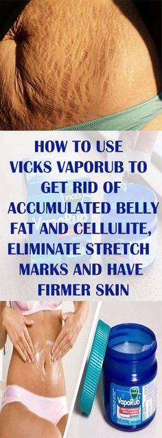 How to Use Vicks VapoRub to Get Rid of Accumulated Belly Fat and Cellulite, Eliminate Stretch Marks and Have Firmer Skin Vicks Vaporub, Vicks Rub, Health Tips, Health And Wellness, Health And Beauty, Entraînement Tracy Anderson, Congested Nose, Chest Congestion, Congestion Relief