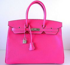 Fans of the Hermes are already familiar with the classic Kelly model This time, Hermes came up with the very flashy 'Birkin Bag' limited edition called the 'candy Series'in Tyrien Rose color.
