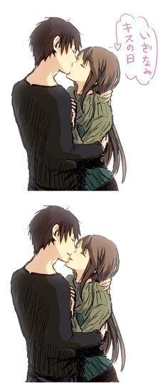 Tags: Anime, Durarara!!, Orihara Izaya, Yagiri Namie, Kiss On The Lips, Stitch777