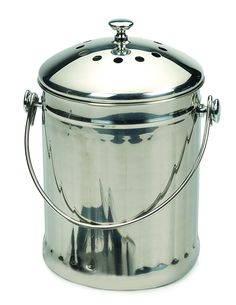 Endurance® Stainless Steel Compost Pail – Speckled Green