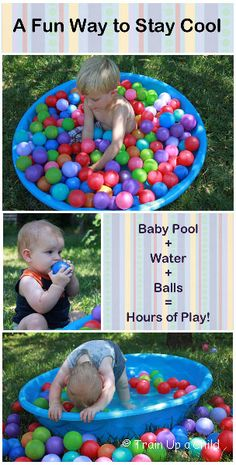 Simple water play with balls for babies and toddlers.  Sometimes the most simple ideas are the best!