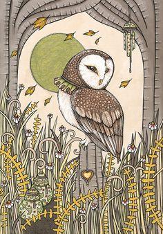 Anita Inverarity   INK on illustration board   Shrine