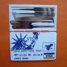 High quality James Bond Pocket Lock Pick Tool, locksmith tools. YAAAAAAAAAS