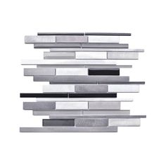 Eden Mosaic Tile Random Sized Glass and Aluminum Mosaic Tile in Grey & Reviews | Wayfair.ca