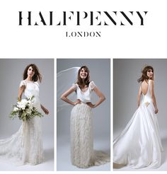 Wedding dresses for every style of bride Brit cool, modern vintage, British made in London #bridalseparates #halfpennylondon #katehalfpenny | Halfpenny London on Instagram | Bridal Fashion by Kate Halfpenny